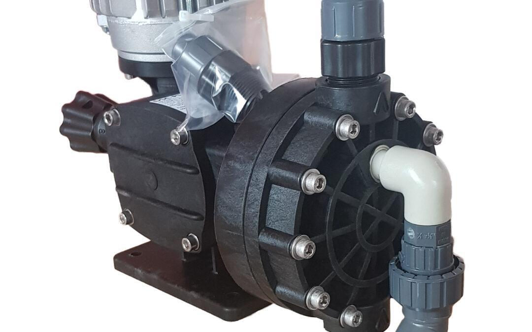 Pompa dosatrice a membrana meccanica completa di valvola di sicurezza